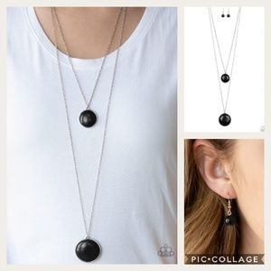 Desert Medallions Black Necklace